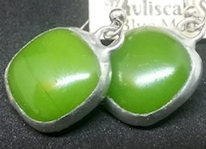 Granny Smith Green Glass Droplet Earring