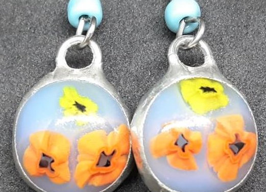 Morning Floral bloom earrings by Pavliscak Studios