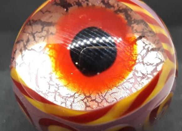 Purple Monster Eye Marble by George Pavliscak