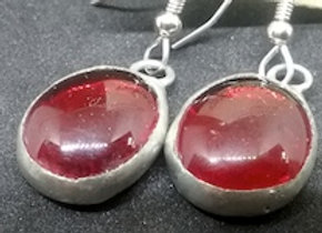 Red Glass Droplet Earring