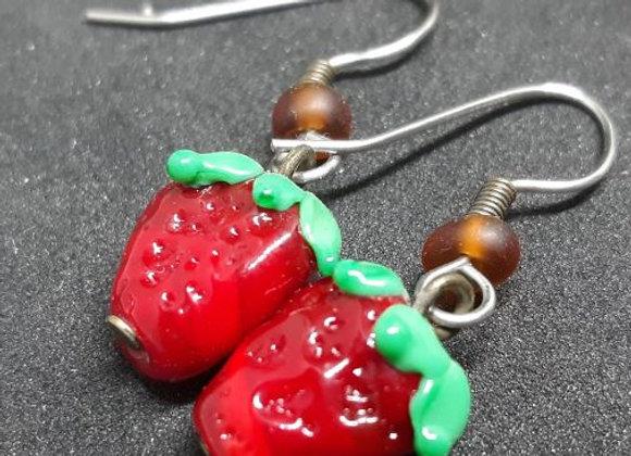 Strawberry Earrings -Early
