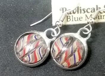 Blown Glass Cane Earrings