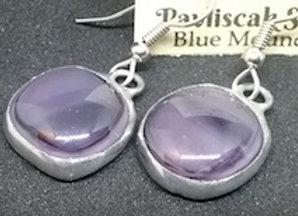 Lilac Swirly Glass Droplet Earring