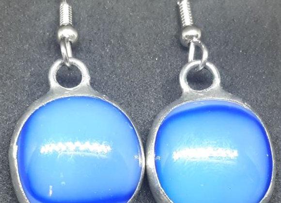Deep water Blue Earrings by Pavliscak Studios