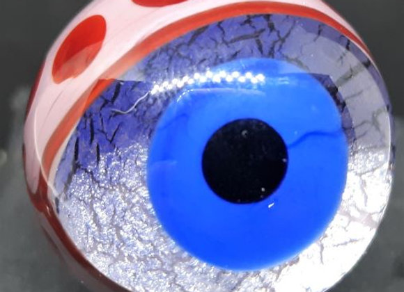 George Pavliscak Monster Eye Marble - Suspicious Red Dots