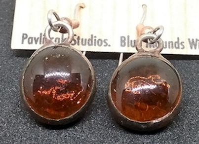 Amber Glass Droplet Earring