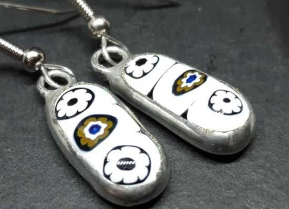 Murrini Cane Remelted Earrings by Pavliscak Studios