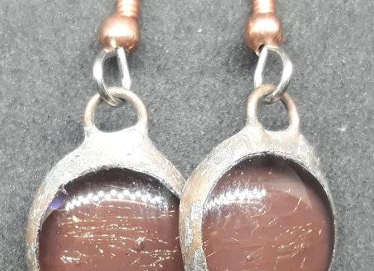 Chocolate Brown Glass Droplet Earrings by Pavliscak Studios
