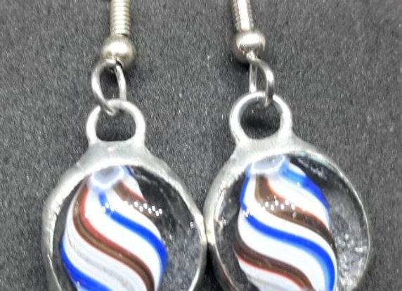 Star Spankled glass blow earrings pavliscak studios
