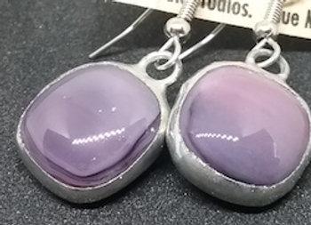 Purple Glass Droplet Earring