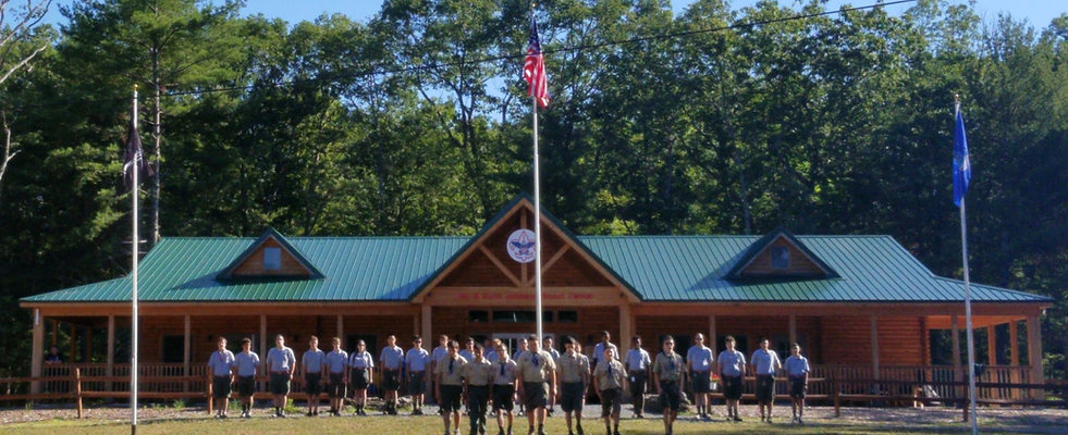 Scouts Summer Camp Flag Ceremony