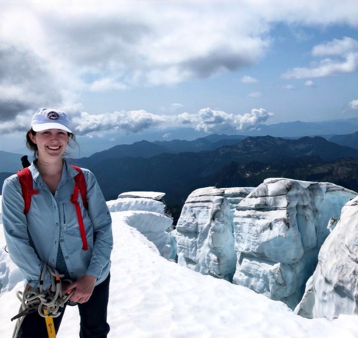 Students explore glacier science with researcher Clara Deck