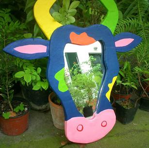 Miroir vache