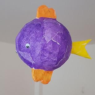 Poisson sur ballon