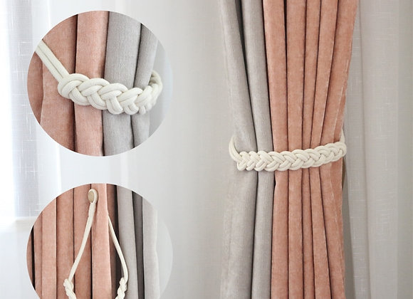 1pc Handwork  Woven Cotton Magnet Curtain Tieback Buckle