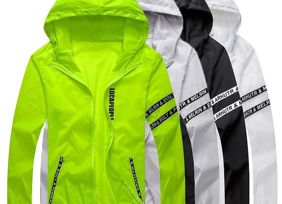 Windbreaker Jacket Outwear Sports  Thin  Hooded Coats