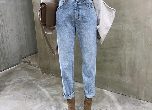 BGTEEVER Vintage High Waist Straight Jeans