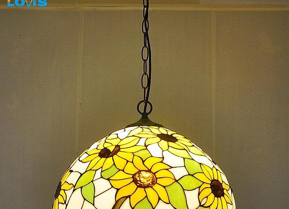 40CM Sunflowers European Chandeliers Tiffany Glass Lamps