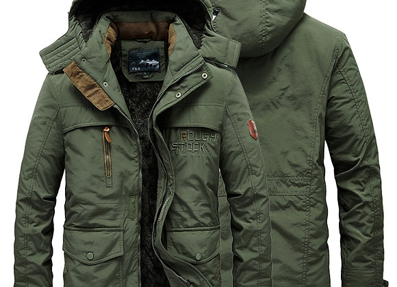 Fur Collar Hooded Winter Jacket Warm Wool Liner Jackets