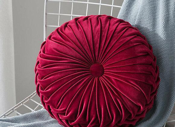Fashion Velvet Pleated Round Cushion