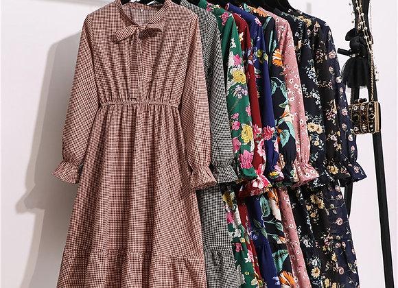 11 Style Beautiful Fashion Summer Women Long Sleeve Dress