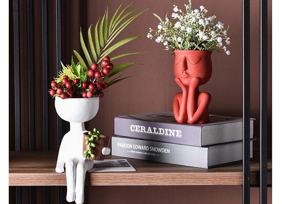 Character Portrait Flower Pot Resin Succulents Plant Pot