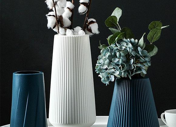 Morandi Plastic Vase Living Room Decoration