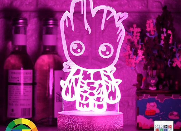 Newest Night LED Lights Novelty 3D Little Wooden Man Lamp