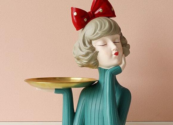 Moden Gorgeous Girl Resin Art Statue Fairy
