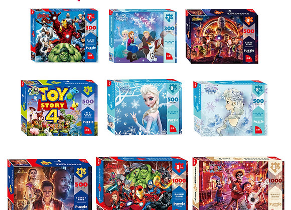 Disney 1000Pcs/500Pcs/300Pcs Toy Story Puzzle