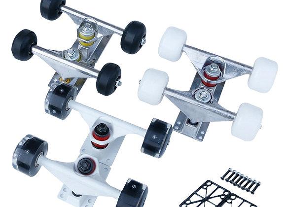 2pc Skateboard Truck Aluminum Cruiser Longboard Bridge Wheels & Bearings