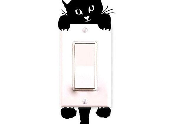 Cute Cat Switch Wall Sticker