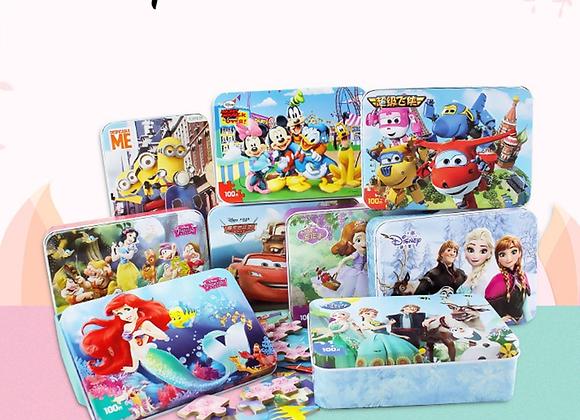 Disney 3d Puzzle / Frozen 2 Puzzle 100 Pieces Educational Toy Wooden Puzzle