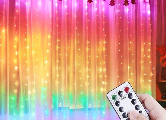 3M LED Curtain String Lights Remote Control USB