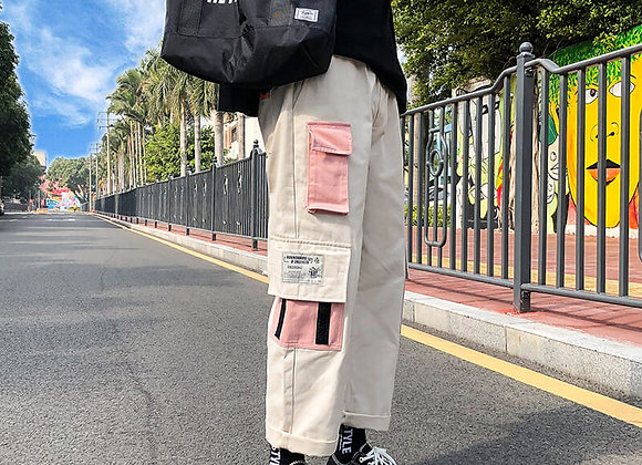 Hip Hop Sweat Pants Embroidery Japanese Style Trousers