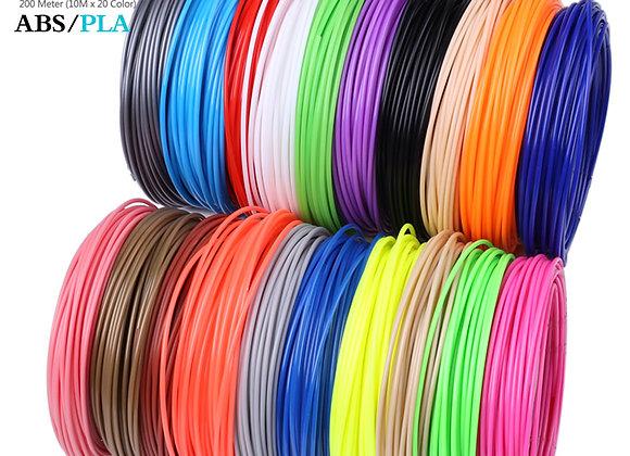 Aveiro 50/100/200 Meter 1.75mm ABS PLA Material,Filament 3d Refill