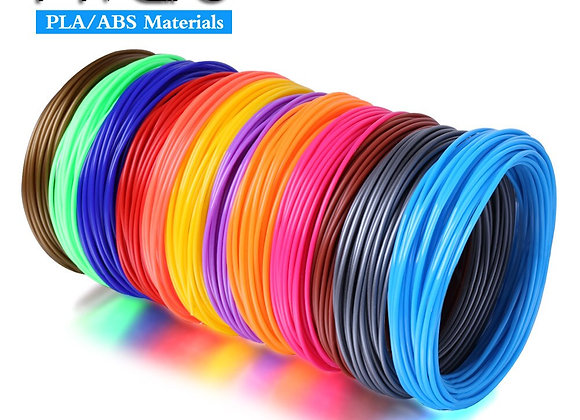 Plastic for 3 D Pen Filament ABS PLA 1.75mm Refill Rubber Printing Material