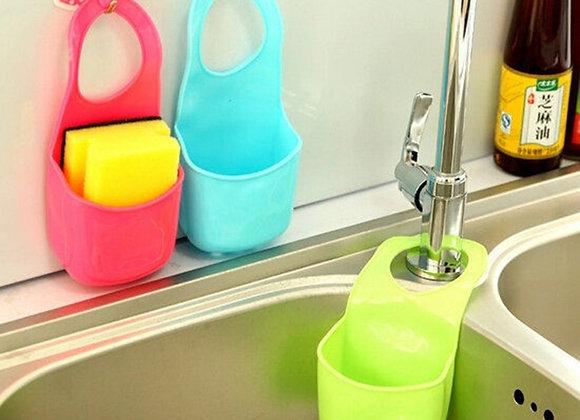 1 Pc Kitchen Bath Rack Snap Fastener Sink Hanging