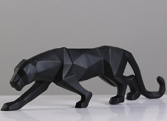 New 2020 Leopard Statue Figurine Modern Abstract Geometric Style Resin Panther