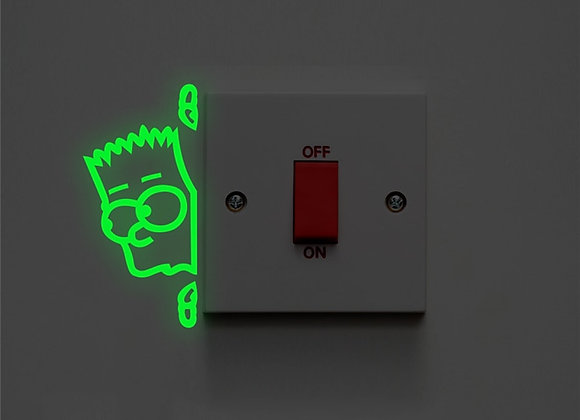 Cartoon Peep Boy Switch Luminous Decals