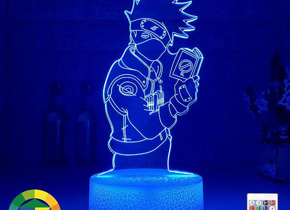 New 3d Illusion Led Night Light Kakashi Hatake Holding Book Nightlight