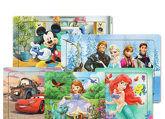 Disney Pixar 9 Pieces 16 Pieces 30 Pieces Combination Wooden Frame Puzzle