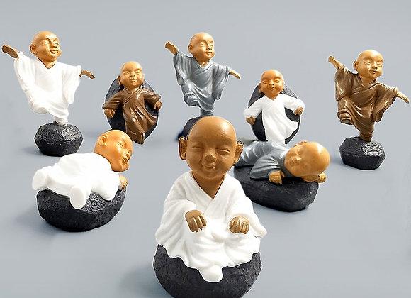 Chinese Feng Shui Wealth Monk Figurine Bonsai Home Decor