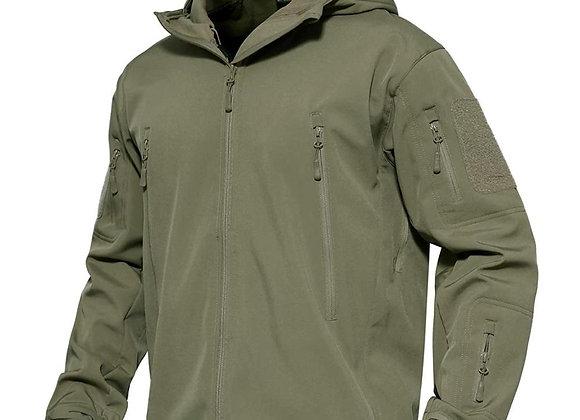 Tactical Jacket Hooded Thermal Fleece Water Resistant Snow Ski Winter Coat