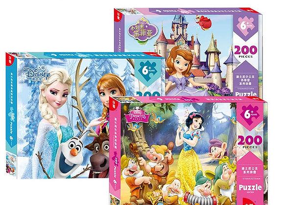 Disney Puzzle Princess 200 Piece Boxed Children's Puzzle Toy Puzzle