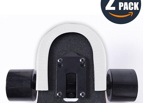 2 Pcs 30cm Skateboard Anti-Collision Strip Bumper U Shape Rubber Deck Guards