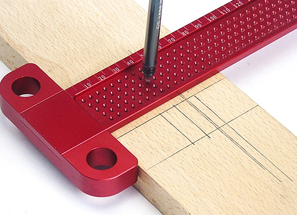 Woodworking Scribe 260mm T-Type Ruler Hole Scribing Ruler
