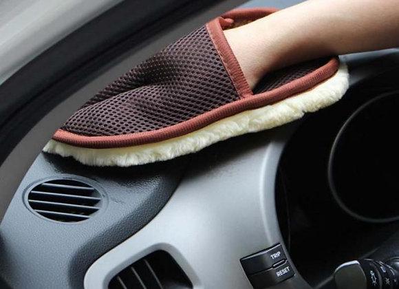 Microfiber Wool Soft Automotive Car Detailing Glove 15*24cm