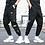 Thumbnail: Ribbons Harem Joggers Men Cargo Pants Streetwear