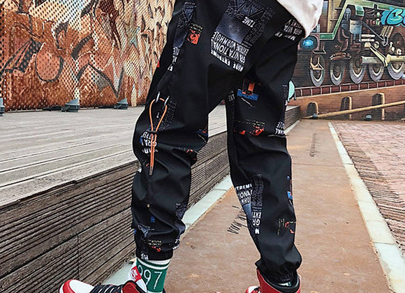 Pants Loose Joggers Pants With Print Streetwear